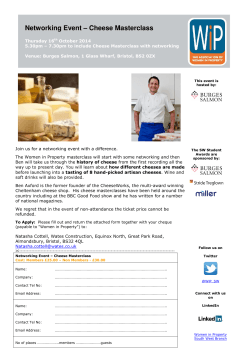 Networking Event – Cheese Masterclass