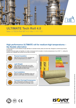 ULTIMATE Tech Roll 4.0 – High performance ULTIMATE roll for medium-high temperatures