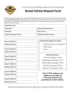Rental Vehicle Request Form **For use of SCLC funds only**