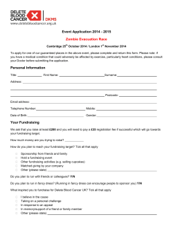 Event Application 2014 - 2015 Zombie Evacuation Race