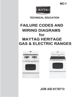 FAILURE CODES AND WIRING DIAGRAMS for MAYTAG HERITAGE