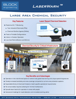 LaserWarn™ Large Area Chemical Security Laser Based Chemical Detection Key Features