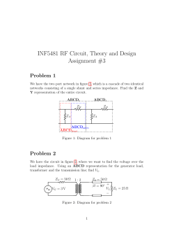 INF5481 RF Circuit, Theory and Design Assignment #3 Problem 1
