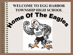 WELCOME TO EGG HARBOR TOWNSHIP HIGH SCHOOL