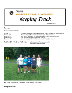 K eeping Track October 2014