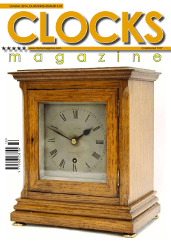 CLOCKS m a g a z i n e October 2014, £4.95/US$8.45/AU$10.50 www.clocksmagazine.com