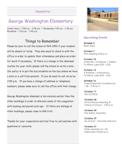 George Washington Elementary Newsletter
