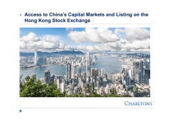 Access to China's Capital Markets and Listing on the 