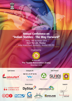 """Indian Textiles - The Way Forward"" Annual Conference on"