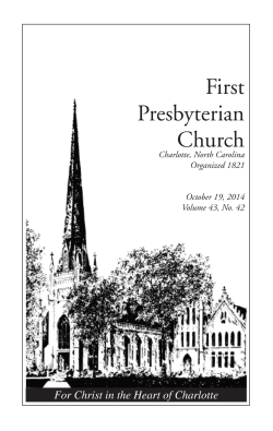 First Presbyterian Church For Christ in the Heart of Charlotte