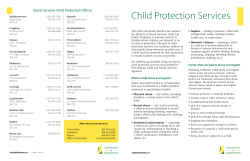 Child Protection Services Social Services Child Protection Offices