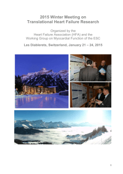 2015 Winter Meeting on Translational Heart Failure Research