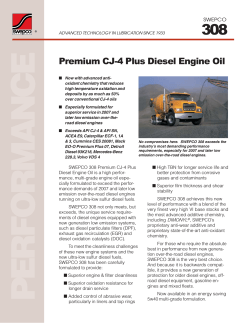 308 Premium CJ-4 Plus Diesel Engine Oil SWEPCO
