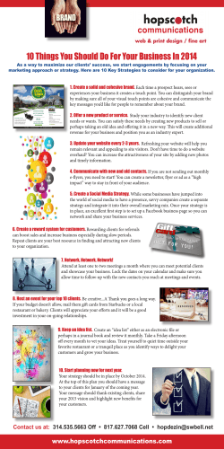 10 Things You Should Do For Your Business In 2014