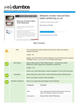 Website review natural-bliss- teeth-whitening.co.uk SEO Content