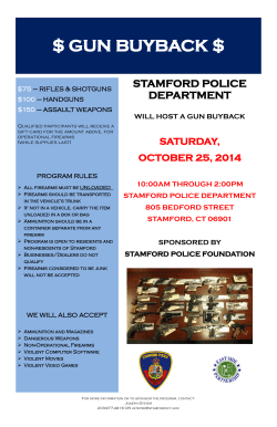 $ GUN BUYBACK $ STAMFORD POLICE DEPARTMENT