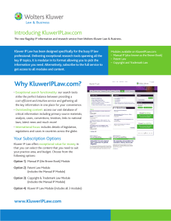 Introducing	KluwerIPLaw.com