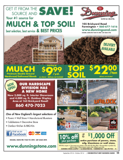 22 save! 9 MuLCH & TOp SOIL!