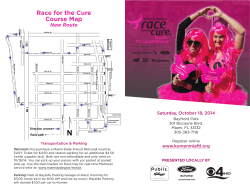 Race for the Cure Course Map New Route Saturday, October 18, 2014
