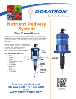 Nutrient Delivery System Water-Powered Dosers