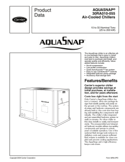 Product Data AQUASNAP 30RA010-055