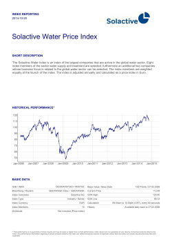 Solactive Water Price Index