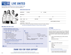 United Way of Buffalo & Erie County Pledge Form