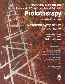 Prolotherapy  Research Symposium The Anatomy, Diagnosis, and