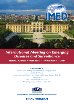 International Meeting on Emerging Diseases and Surveillance