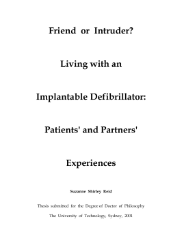 Friend  or  Intruder? Living with an Implantable Defibrillator: