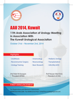 AAU 2014, Kuwait 11th Arab Association of Urology Meeting in Association With