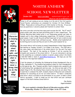 NORTH ANDREW SCHOOL NEWSLETTER