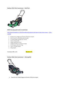Qualcast 125cc Petrol Lawnmower – Hand Push