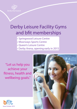 Derby Leisure Facility Gyms and bfit memberships