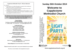 Welcome to Sunday 26th October 2014
