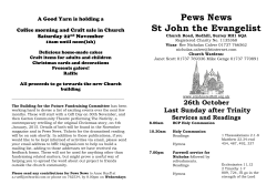 Pews News St John the Evangelist A Good Yarn is holding a