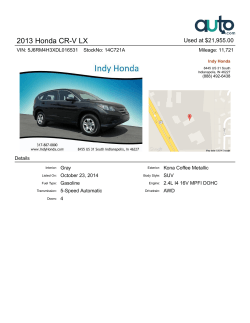 2013 Honda CR-V LX Used at $21,955.00