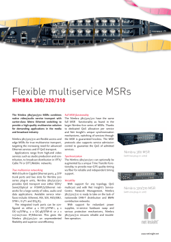 Flexible multiservice MSRs NIMBRA 380/320/310