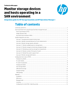 Monitor storage devices and hosts operating in a SAN environment Table of contents
