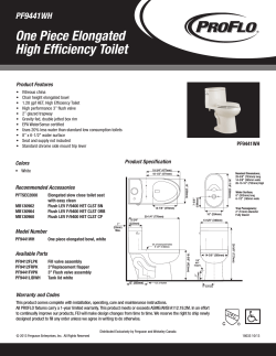 One Piece Elongated High Efficiency Toilet PF9441WH Product Features