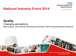 National Industry Event 2014 Quality Changing perceptions