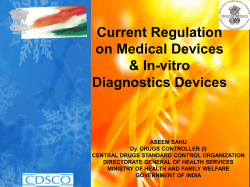 Current Regulation on Medical Devices & In-vitro Diagnostics Devices