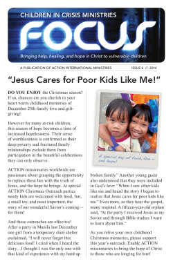 """Jesus Cares for Poor Kids Like Me!"" CHILDREN IN CRISIS MINISTRIES"