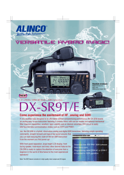 DX-SR9T/E Come experience the excitement of HF..analog and SDR!