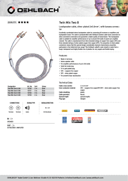 Twin Mix Two B Loudspeaker cable, silver-plated 2x6.0mm², with banana connec- tor QUALITY