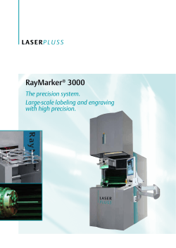 RayMarker 3000 The precision system. Large-scale labeling and engraving