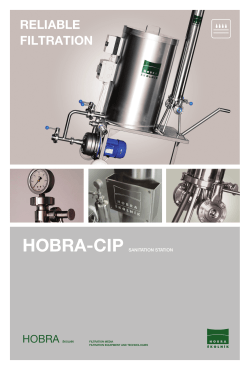 HOBRA-CIP RELIABLE FILTRATION HOBRA