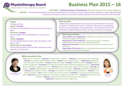 Business Plan 2015 – 16