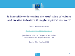 Is it possible to determine the 'true' value of ... and creative industries through empirical research?