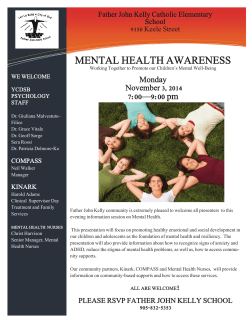 MENTAL HEALTH AWARENESS In 7:00—9:00 pm Monday